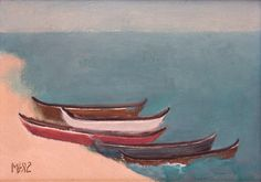 "art-centric: "" Boats on the Shore Viorel Marginean, 1982 """