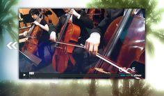 Visor de vídeos de la web de la Orquesta Sinfónica de Elche, en la propia página de inicio.