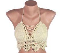 Croche Bikini Crochet Bikini Top women bikini top by LoveKnittings