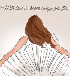 VALIENTE y con amor alas arte para las mujeres cita para