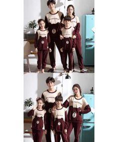 Parent-child pajamas long-sleeved trousers family wear cartoon home service Adult Onesie Pajamas, Couple Pajamas, Boys Pajamas, Pajamas Women, Mens Pjs, Family Christmas Pajamas, Silk Sleepwear, Kids Board, Pajama Set