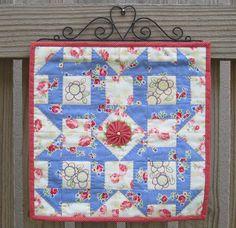 Churn Dash mini quilt