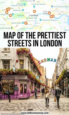 10 Prettiest Streets In London + Map To Find Them – Best Europe Destinations London Travel Guide, London Guide, Paris Travel, Notting Hill London, Hyde Park London, Parks In London, London Map, London Places, London Food