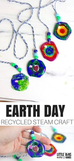 Every now and them we take a break from slime to try out other kinds of cool STEM activities, and this is our latest! Can you believe this Earth Day recycled STEM craft activity uses egg cartons! So easy to make, fun to wear, recycled materials, and a bit of chemistry too! This is the PERFECT Earth Day STEAM idea!