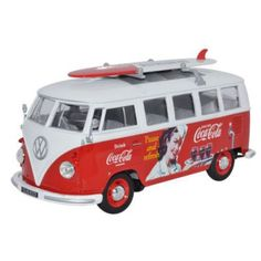 You can't get more adventurous than this with a Diecast Coca-Cola Microbus with Surfboard! See all our diecast models at http://www.2collectcola.com/cocacola/diecast.html