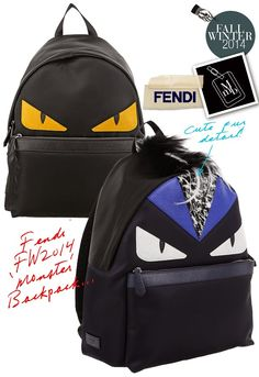 myMANybags: Fendi Fall Winter 2014 Bag Bugs 'Monster Eyes' Backpack