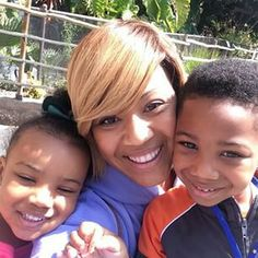Erica Campbell and her lovely kids.