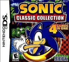 Sonic Classic Collection Nintendo DS 4 Games In 1 Knuckles Sonic Tails Hedgehog