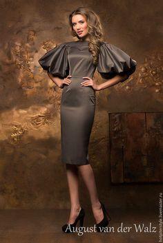 c6d2cc1578b7 Офисное платье для деловых леди. Ручная работа. Дизайнерское платье. Модный  дом August van