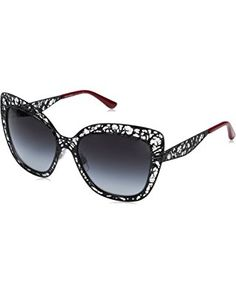 ead5c194f1d These Dolce   Gabbana cat eye shaped sunglasses are Rx-able and are  engineered to protect your eyes from harmful UV rays. These large lace cat  eye glasses ...