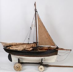 A large model of a sailing boat