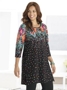 Plus Size Womens Clothing - Crafty Confetti Knit Tunic