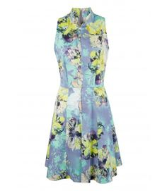 Closet Floral Collar Flared Dress - Enchanted Nights - Collections