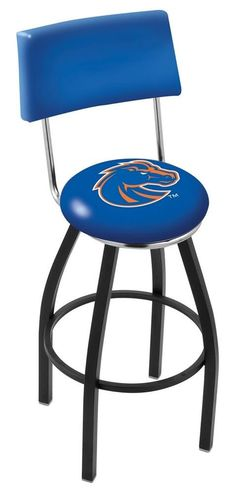 Boise State Broncos Swivel Bar Stool with Back