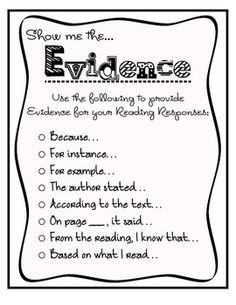 This handout provides students with a list of terms and phrases to use in their reading responses