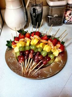 Made these for my neices Graduation Open House and everyone loved the fruit kabob dessert, not mention they are very colorful and pretty!!!