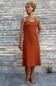 Built in Bra Below Knee Simplicity Dress Light by gaiaconceptions, $150.00
