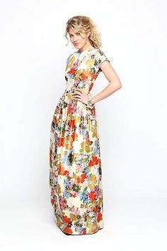 floral maxi dress by makingvalerie Modest Fashion, Love Fashion, Womens Fashion, Feminine Fashion, Nail Fashion, Fashion Models, Fashion Shoes, Fashion Accessories, How To Have Style