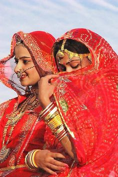 Indian girls in perfect Indian cloths.representing the culture of Rajasthan, India
