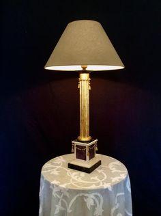 Lampe de table en bois Charles Leclerc 3: