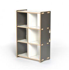 Sprout 6 Cubby Shelf - Grey and White - Storage & Organization - Kids Furniture - Kids & Baby