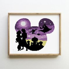 cross stitch Disney Jasmine nursery fairy counted starry night Silhouette galaxy castle- Cross Stitch Pattern (Digital Format - PDF)Cross country Cross country or cross-country may refer to: Disney Cross Stitch Patterns, Cross Stitch Designs, Machine Embroidery Projects, Embroidery Patterns, Counted Cross Stitch Patterns, Cross Stitch Embroidery, Cross Stitches, Hand Embroidery, Pixel Art
