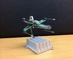Mini X-Wing Fighter Created from recycled computer parts