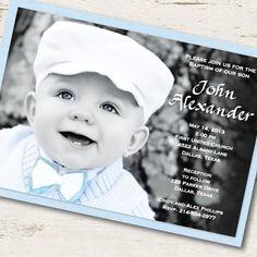 Photo Baptism Invitation Photo Christening Invitation. $1.95, via Etsy.