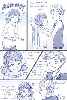 I FEEL YOU MARINETTE. idk why everyone is drawing winter themed ml but ima join
