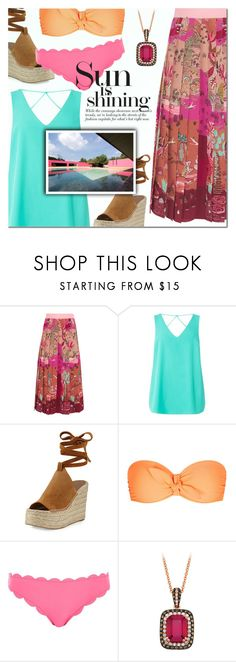 """""""Sun is Shining"""" by a-a-nica ❤ liked on Polyvore featuring Valentino, Dorothy Perkins, Sigerson Morrison, Heidi Klein and River Island"""
