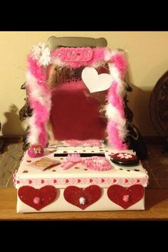 The vanity Valentines Box I made for Macie in 1st grade) : valentine boxes for school ideas - Aboutintivar.Com
