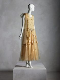 In Pursuit of Fashion: The Sandy Schreier Collection Evening Dress, Madeleine Vionnet (French, spring Promised gift of Sandy Schreier Photo © Nicholas Alan Cope / Courtesy of the Metropolitan Museum of Art Madeleine Vionnet, Jeanne Lanvin, Hollywood Dress, Hollywood Fashion, Philip Treacy, Charles James, Anna Wintour, 1930s Fashion, Vintage Fashion