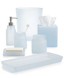 Ordinaire Martha Stewart Collection Frosted Powder Blue Bath Accessories Reg. $19.00    56.00 Sale $14.99