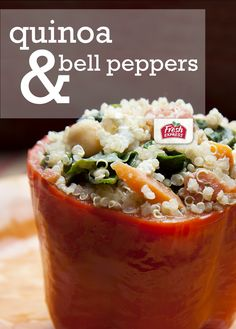 For a simple meal with a bit of a fancy side, try this stuffed bell pepper recipe with quinoa and yogurt sauce. If you want to up the flavor even more, lightly toast the quinoa for a minute or two in a hot skillet before you cook it.  #freshexpress