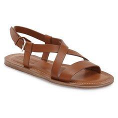 Salvatore Ferragamo 'Nostro' Crisscross Strap Sandal (€445) ❤ liked on Polyvore featuring men's fashion, men's shoes, men's sandals and blue marin leather