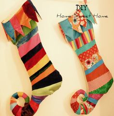 diy home sweet home: Elf Stocking I LOVE Stockings <3
