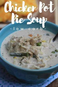 Chicken Pot Pie Soup Keto/Low Carb – This chicken soup is delicious and low carb! The best keto soup you will have! Chicken Pot Pie Soup Keto/Low Carb – This chicken soup is delicious and low carb! The best keto soup you will have! Keto Foods, Ketogenic Recipes, Low Carb Recipes, Ketogenic Meals, Ketogenic Breakfast, Pescatarian Recipes, Cooker Recipes, Soup Recipes, Diet Recipes