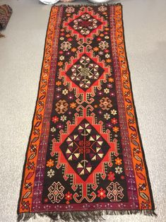 "TURKISH KILIM RUG, 336 x 126 cm ( 132 "" x 49 "" )"