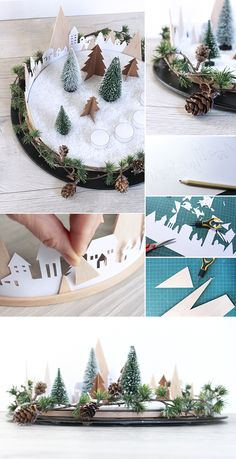 DIY, Adventskranz, Weihnachten, Xmas, Balsaholz, Holz, Papier, Deko,