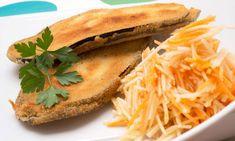 Receta de Filetes de berenjena rellenos con ensalada de zanahoria y manzana
