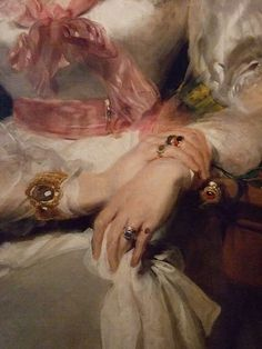 The rings and bracelets of the honorable Mrs Seymour Bathurst by Sir Thomas Lawrence 1828 oil (2)