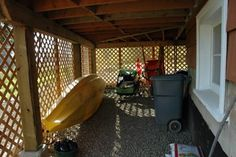 storage under deck I have this and it is very handy to have ! Anyone considering doing this it works great ! - Deck Storage - Ideas of Deck Storage Under Deck Storage, Porch Storage, Built In Storage, Outdoor Storage, Backyard Storage, Storage Sheds, Under Deck Landscaping, Landscaping Ideas, Under Decks