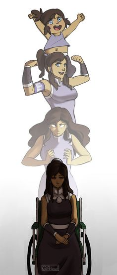 Lights Out by Giftieat • If Korra is permanently disabled by the mercury poisoning I will be impressed once again by the creators and writers. She's already contemplated suicide once when faced with the posibility of losing what gave her an identity. After seeing what she's gone thru in just a relatively short period of time makes you realize that Aang had it easy. My respect for Korra grows.