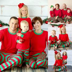 2016 Christmas Xmas Family Matching Outfits Kids Adult Family Pajamas Set Long Sleeve Top And Striped Pants Sleepwear Lounge Night Kids Matching Clothes Matching Holiday Outfits From Betty9907, $12.16| Dhgate.Com