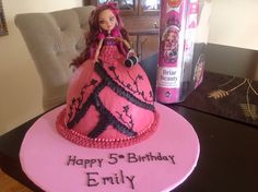 Ever After High Birthday Cake--But do it with APPLE WHITE INSTEAD