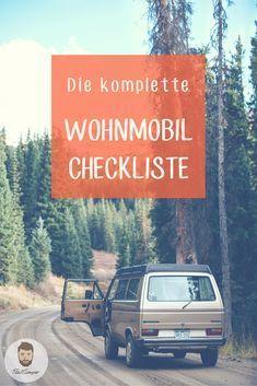 Camper Tipps als Liste: Eine komplette Checkliste für deine Wohnmobil Reise.