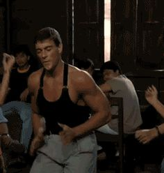 Just Jean-Claude Van Damme showing off some smooth moves ...