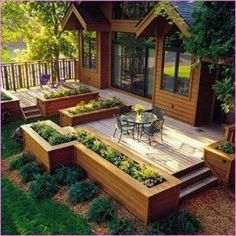 Awesome Raised Garden Bed Ideas For Backyard Landscaping is part of Diy garden bed - Plants are picky about the ground that they grow on They need just the right amounts of water, sunlight, and […] Small Patio Design, Deck Design, Landscape Design, Diy Garden Bed, Raised Garden Beds, Garden Ideas, Patio Ideas, Raised Patio, Backyard Ideas