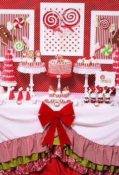 Such a festive dessert table. Have fun with it! More inspiration at diyweddingsmag.com #diyweddings #wedding