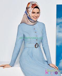 Açık Mavi Elbise Armine 2016